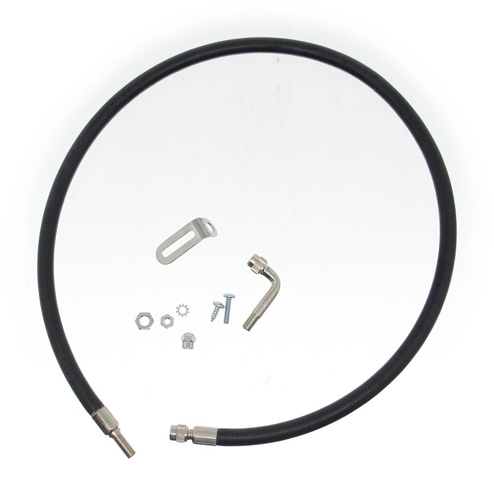 Wheel Masters Spare Tire Inflation Kit - Trunk Mount - Rubber Trunk Mount WM82286-R