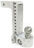 weigh safe trailer hitch ball mount adjustable class iv 10000 lbs gtw 2-ball w/ built-in scale - 2 inch 10 drop 11 rise 10k