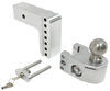 weigh safe trailer hitch ball mount adjustable 2 inch 2-5/16 two balls 2-ball w/ built-in scale - 2-1/2 4 drop 5 rise 18.5k
