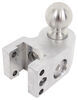 """Weigh Safe 2-Ball Mount w/ Built-In Scale - 2"""" Hitch - 6"""" Drop, 7"""" Rise - 12.5K Aluminum Shank - Silver WS6-2"""