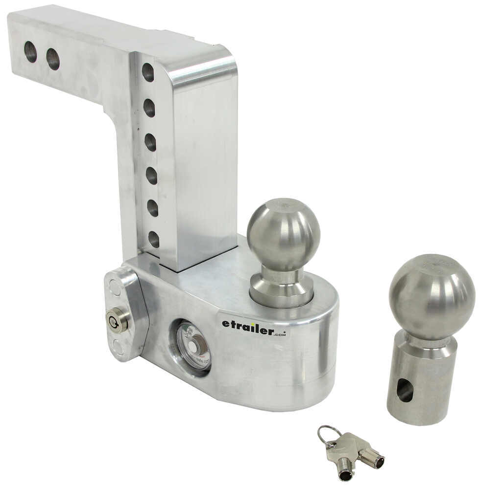 "Weigh Safe 2-Ball Mount w/ Built-In Scale - 2"" Hitch - 6"" Drop, 7"" Rise - 12.5K Stainless Steel Ball WS6-2"