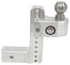 "Weigh Safe 2-Ball Mount w/ Built-In Scale - 2-1/2"" Hitch - 8"" Drop, 9"" Rise - 18.5K Class V,18500 lbs GTW WS8-25"