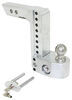 weigh safe trailer hitch ball mount drop - 8 inch rise 9 class iv 10000 lbs gtw ws8-2