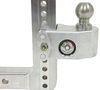 weigh safe trailer hitch ball mount adjustable class iv 10000 lbs gtw 2-ball w/ built-in scale - 2 inch 8 drop 9 rise 10k