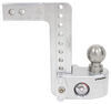 weigh safe trailer hitch ball mount adjustable two balls 2-ball w/ built-in scale - 2 inch 8 drop 9 rise 10k