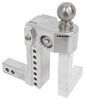 Trailer Hitch Ball Mount WS8-2 - Stainless Steel Ball - Weigh Safe