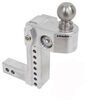 weigh safe trailer hitch ball mount adjustable drop - 8 inch rise 9 ws8-2