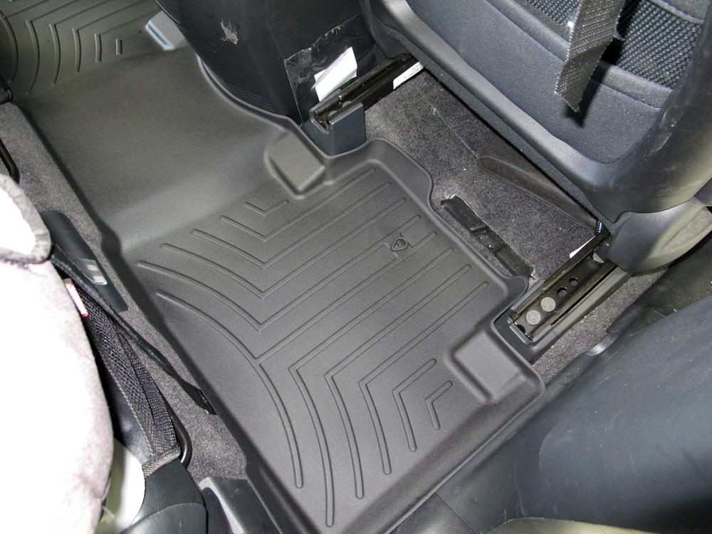 441742 WeatherTech Custom Fit Rear FloorLiner for Honda Pilot Black
