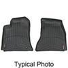 weathertech floor mats front contoured auto - black