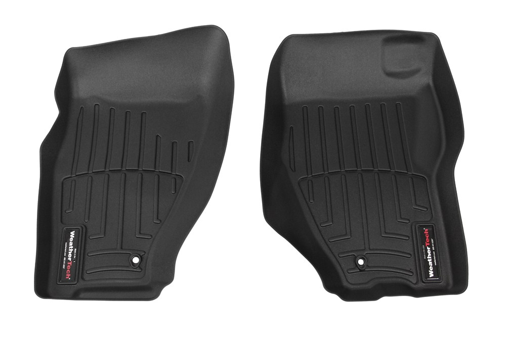 WeatherTech Custom Fit Front FloorLiner for Dodge Nitro Black 443221