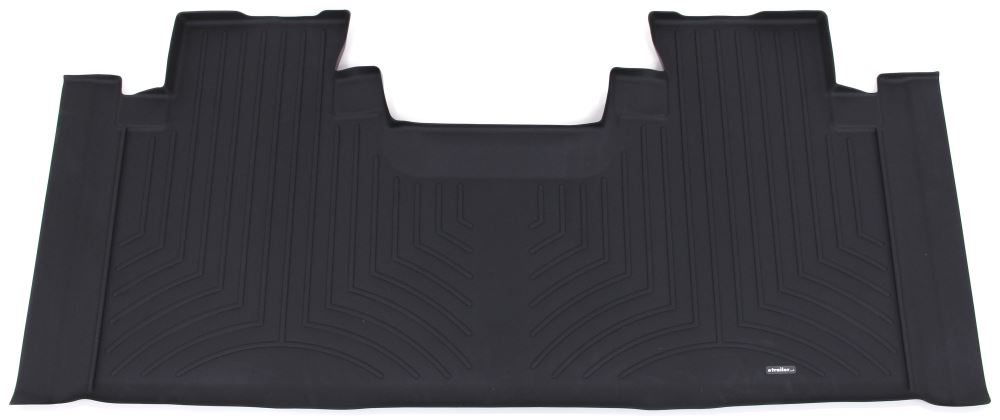 WeatherTech 2nd Row Rear Auto Floor Mat - Black Rubber with Plastic Core WT446975