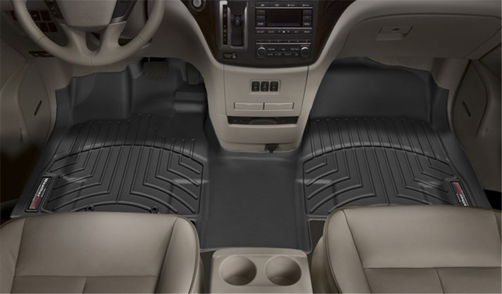 WeatherTech Front Auto Floor Mat - Black Contoured WT447931V