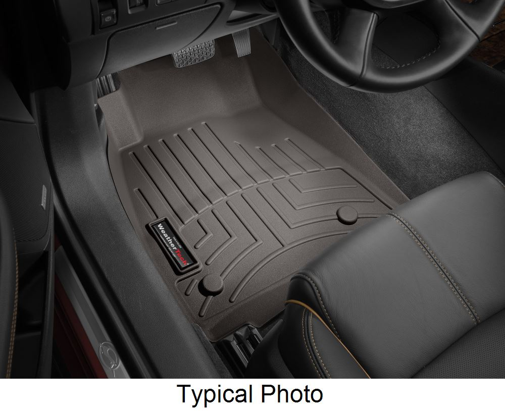 WeatherTech Front Auto Floor Mats - Cocoa Rubber with Plastic Core WT475901