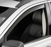 weathertech rain guards 2 piece set front windows side window with dark tinting -