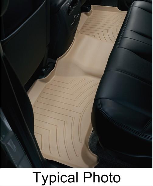 WeatherTech 2nd Row Rear Auto Floor Mat - Tan Contoured WT456974