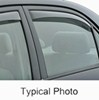 weathertech rain guards side window 2 piece set air deflectors with dark tinting - rear