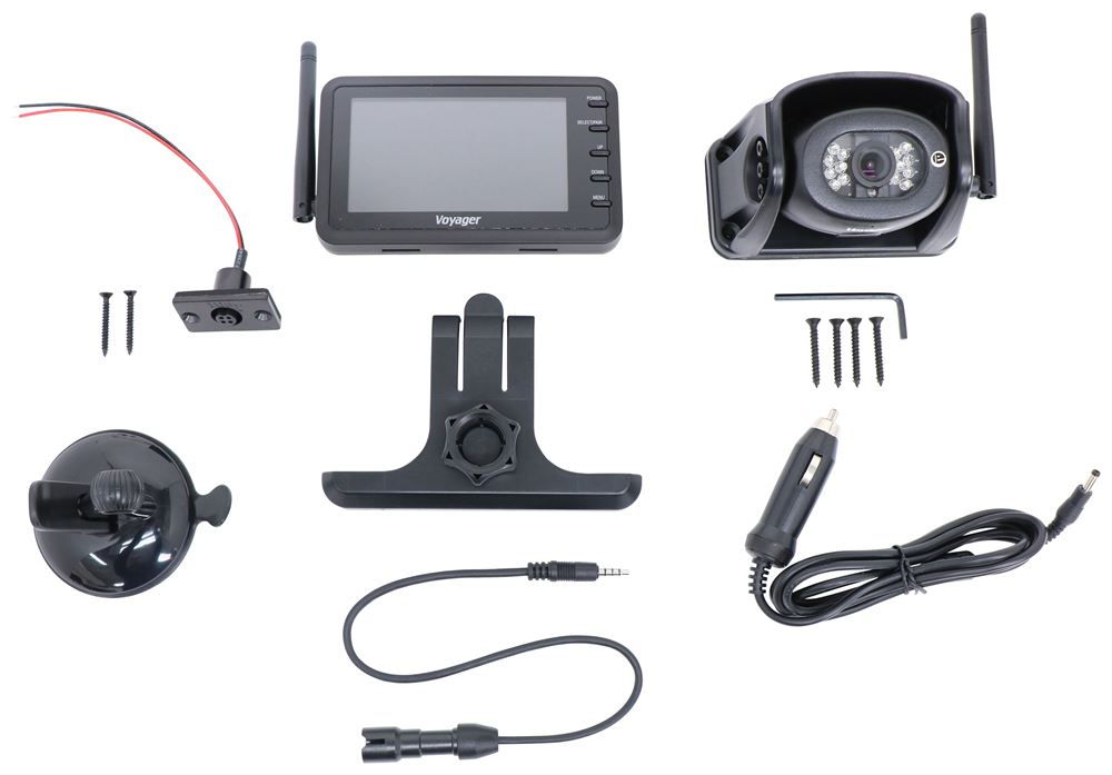 """Voyager WiSight Wireless RV Backup Camera System w/ Night Vision - Rear Mount - 4.3"""" Screen 135 Degrees WVHS43"""