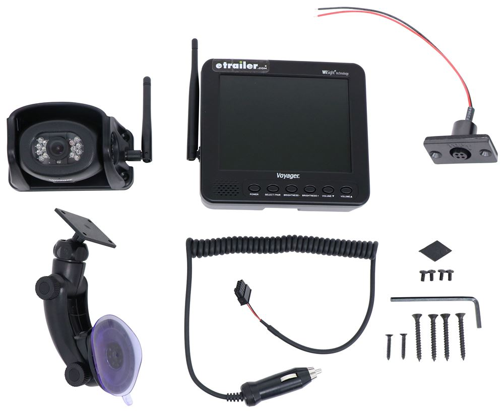 Voyager Built-In Microphone,Mirrored Image,Night Vision,Waterproof RV Camera System - WVHS541