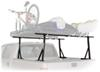 yakima ladder racks fixed height over the bed outdoorsman 300 rack with 66 inch crossbars for compact trucks