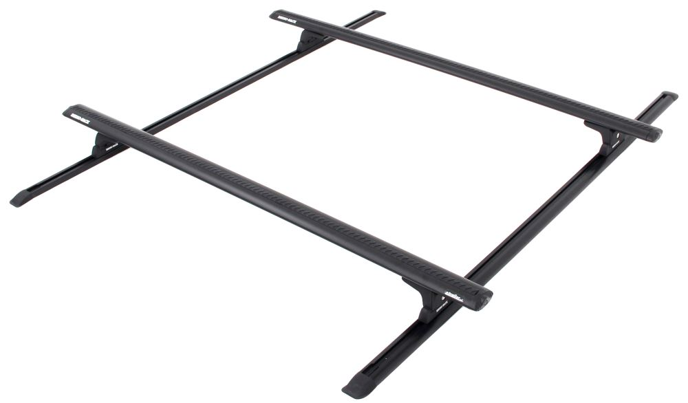 "Rhino-Rack Aero Bar Roof Rack for Camper Shells - Track Mount - Black - Thick - 65"" Long Light Duty Y02-500B-ST"
