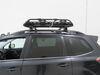 2018 subaru forester roof basket yakima round bars factory aero elliptical on a vehicle