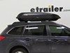 Yakima RocketBox Pro 14 Rooftop Cargo Box - 14 cu ft - Black Medium Capacity Y07192 on 2011 Subaru Outback Wagon