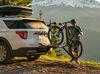 0  hitch bike racks yakima platform rack tilt-away onramp for 2 electric bikes - 1-1/4 inch hitches frame mount